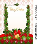 holiday card with christmas... | Shutterstock .eps vector #354709061