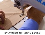 the sewing machine and item of... | Shutterstock . vector #354711461