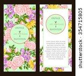 vintage delicate invitation... | Shutterstock . vector #354715805