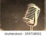 retro microphone.  vintage... | Shutterstock . vector #354718031