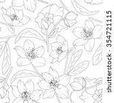 hellebore flowers blossom... | Shutterstock .eps vector #354721115