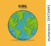 global  communication concept... | Shutterstock .eps vector #354734891