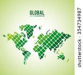 global  communication concept... | Shutterstock .eps vector #354734987