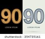 90 luxury font designed using... | Shutterstock .eps vector #354735161