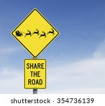 modified road sign with a... | Shutterstock . vector #354736139
