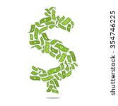 the dollar as the greenback... | Shutterstock .eps vector #354746225