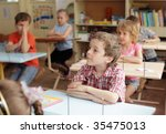 children at a lesson in school | Shutterstock . vector #35475013