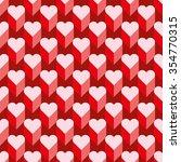 seamless heart pattern. ideal... | Shutterstock .eps vector #354770315