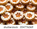 close up of linzer christmas... | Shutterstock . vector #354776369