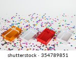 colorful gifts box on white... | Shutterstock . vector #354789851