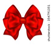 realistic red bow isolated on... | Shutterstock . vector #354791351