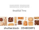 breakfast cereals on white... | Shutterstock . vector #354803891