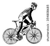 race bicyclist illustration 3   ... | Shutterstock .eps vector #354808685