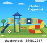 vector children playground on... | Shutterstock .eps vector #354812567