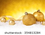 golden christmas ball on... | Shutterstock . vector #354813284