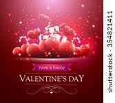 valentines day card with... | Shutterstock .eps vector #354821411