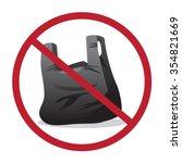 "forbidden sign    ""no plastic...   Shutterstock .eps vector #354821669"