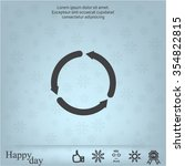 circular arrows vector icon   Shutterstock .eps vector #354822815