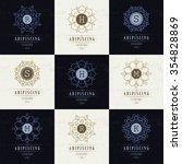 set luxury logos template... | Shutterstock .eps vector #354828869
