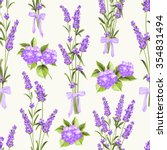 Seamless Pattern Of Lavender...