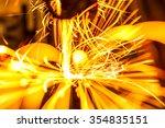 welding robots represent the... | Shutterstock . vector #354835151