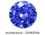face blue diamond isolated... | Shutterstock . vector #35483596