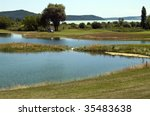 golf court with lake   Shutterstock . vector #35483638