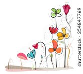Floral Doodle Abstract Colorfu...