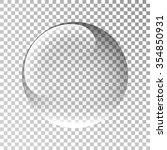 glass sphere. bubble. ball....   Shutterstock .eps vector #354850931