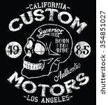 california custom motors... | Shutterstock .eps vector #354851027