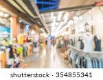 abstract blur people crowd in... | Shutterstock . vector #354855341