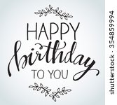 birthday calligraphy   vector...   Shutterstock .eps vector #354859994