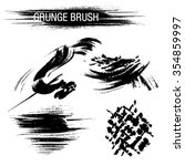 vector set of grunge brush... | Shutterstock .eps vector #354859997