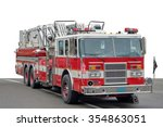 A American Fire Engine On A...