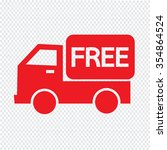 free shipping icon symbol...   Shutterstock .eps vector #354864524