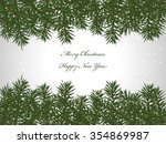 merry christmas and happy new... | Shutterstock . vector #354869987
