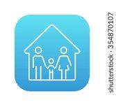 family house line icon for web  ... | Shutterstock .eps vector #354870107