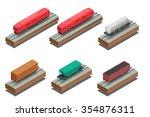 vector isometric illustration... | Shutterstock .eps vector #354876311