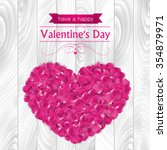 valentines day card with pink... | Shutterstock .eps vector #354879971