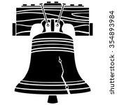 liberty bell abstract | Shutterstock .eps vector #354893984