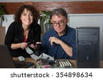 two people man and woman repair ... | Shutterstock . vector #354898634