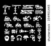 set icons of construction...