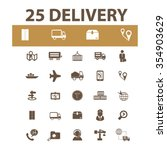 delivery  shipping  logistics ... | Shutterstock .eps vector #354903629