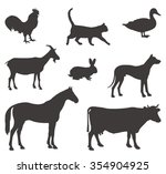 vector file of farm animals | Shutterstock .eps vector #354904925