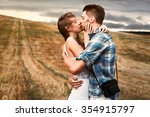 young sensual couple in love... | Shutterstock . vector #354915797