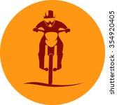 dirt bike motorcycle rider sign ...   Shutterstock .eps vector #354920405