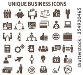 set of 36 unique business icons. | Shutterstock .eps vector #354920465