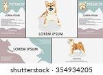dogs. stylized pets set. form... | Shutterstock .eps vector #354934205