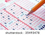 Making a Lotto Ticket - stock photo