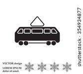 tram icon   Shutterstock .eps vector #354934877